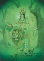 Click to the website of Sanatan Society for a larger image of this Planet Mercury painting