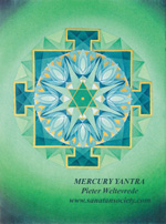 Click to the website of Sanatan Society for a larger image of this Mercury Yantra painting