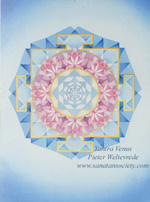 Click to the website of Sanatan Society for a larger image of this Venus Yantra painting